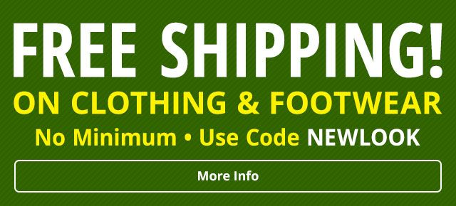 Free Shipping on Clothing & Footwear