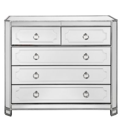 Simplicity Mirrored 5 Drawer Hal...