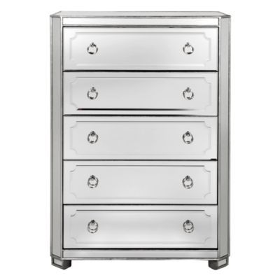 Simplicity Mirrored 5 Drawer Tal...