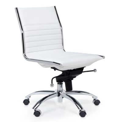Malcolm Armless Desk Chair - White