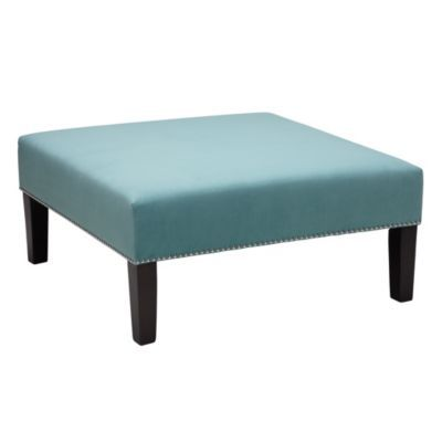 Square Cocktail Ottoman - Aquama...