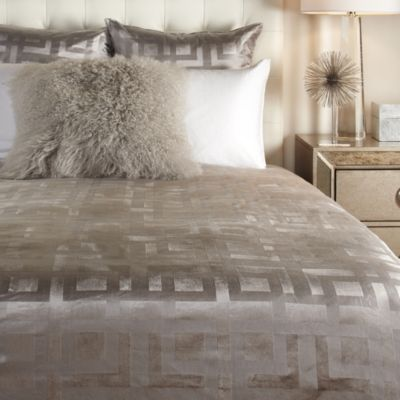 Ming Velvet Bedding - Steel