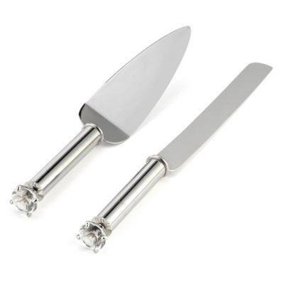Diamond Cake Knife/Server Set