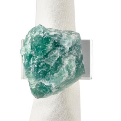Green Fluorite Napkin Ring - Set...