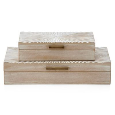 Sunburst Boxes - Set of 2