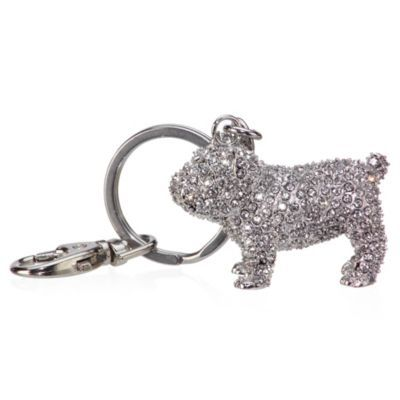 Jeweled Dog Keychain