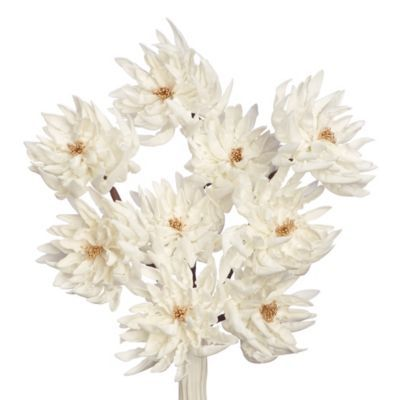 Faux Peony Branch - Set of 3