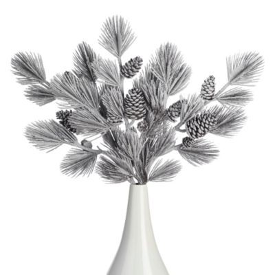 Frosted Pinecone Stem - Set of 3