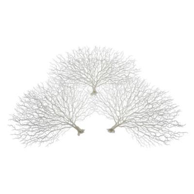 Faux Coral Fan - Set of 3