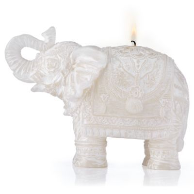 Carved Elephant Candle
