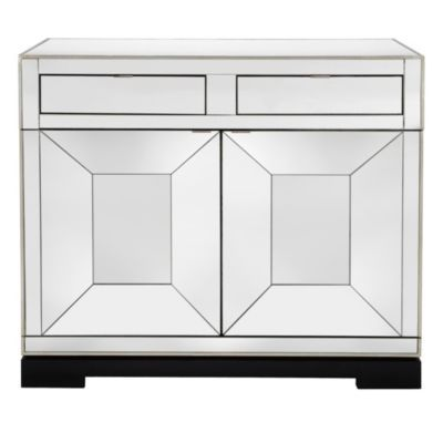 Tangent Mirrored Bar Cabinet
