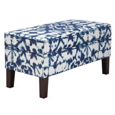 Shibori Storage Bench
