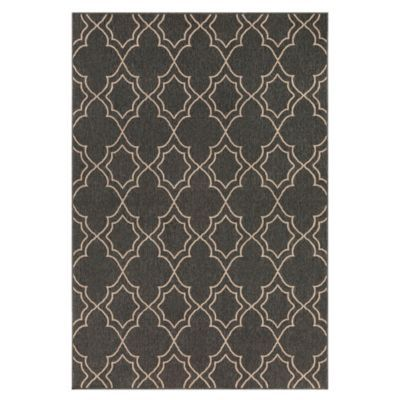 Davit Outdoor Rug - Black