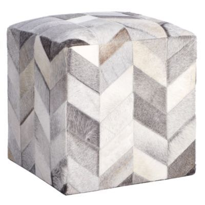 Masson Hair On Hide Pouf