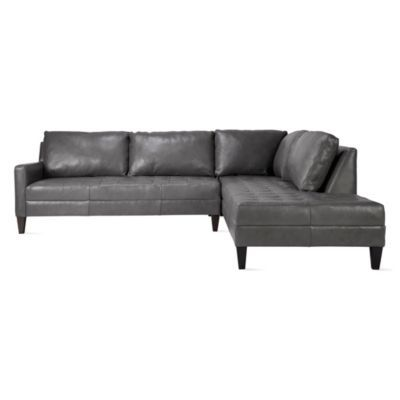Vapor Leather Daybed Sectional -...