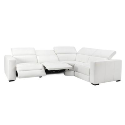 Verona Reclining Sectional - White
