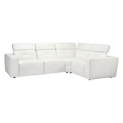 Milan Reclining Sectional - White