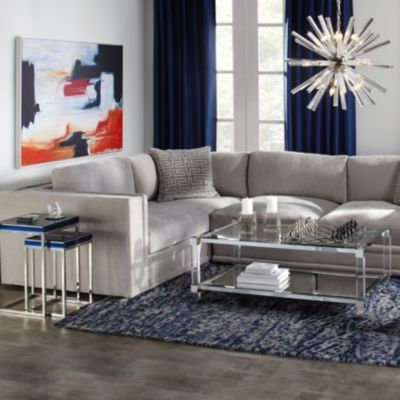 Luka Sectional Chenille Living Room Inspiration