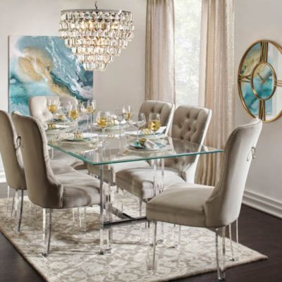 Savoy Aqua Glam Dining Room Inspiration