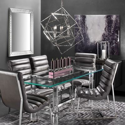 Savoy Modern Leather Dining Room Inspiration