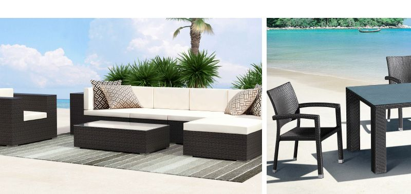 The Cartas Collection: Deep seated, resort feel. Sunproof Fabric. Starting at $159
