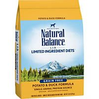 Natural Balance L.I.D. Limited Ingredient Diets Grain-Free Potato & Duck Formula Dry Dog Food