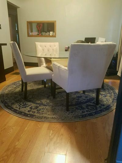 Borghese Mirrored Round Dining Table Z Gallerie