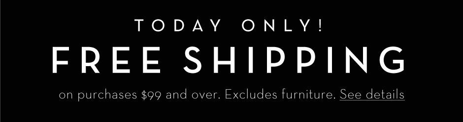 Free Shipping on purchases $99 and over. Today only! See details >
