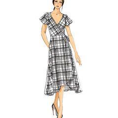 a3187d673564 Vogue Pattern V9251 Misses  Wrap Dresses-Size 16-18-20-22
