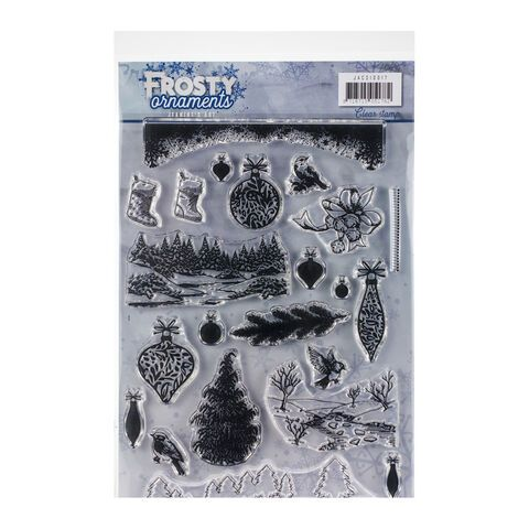 Find It Trading Jeanines Art Clear Stamps Frosty Ornaments