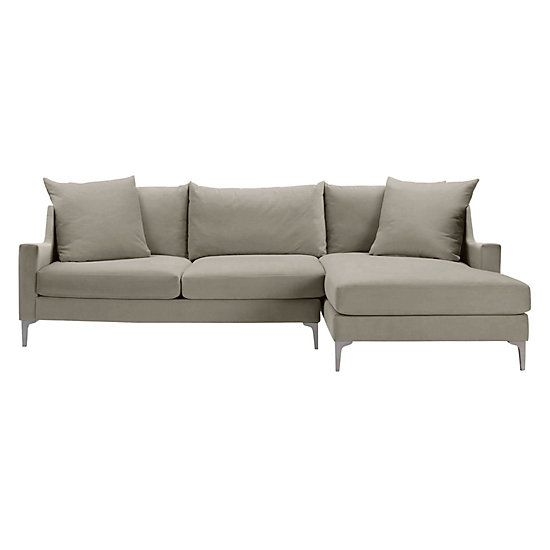 Details Slope Arm Chaise Sectional - 2PC