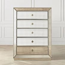 Omni Mirrored 5 Drawer Chest