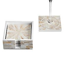 Mother Of Pearl Coaster Set