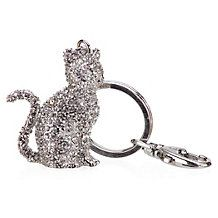 Jeweled Cat Keychain