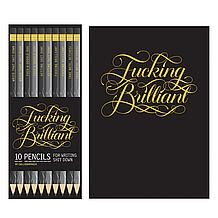 F**king Brilliant Journal & Pencils