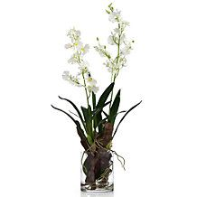 Faux Oncidium In Glass