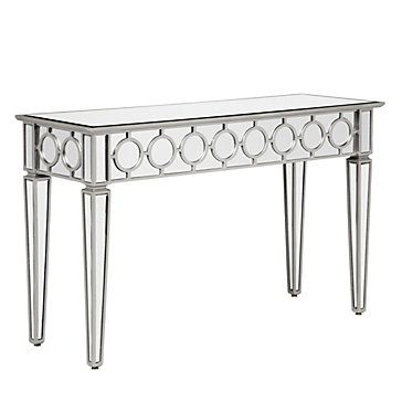 Mirrored Console Table Contemporary