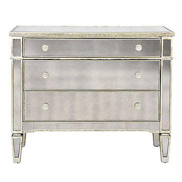 Mirrored Dresser Borghese 3 Drawer Dresser Z Gallerie