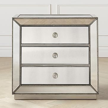 Omni Mirrored 3 Drawer Chest Stylish Silver Drawers Z Gallerie