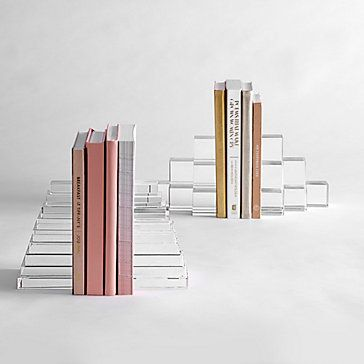 Crystal Cubes Bookends