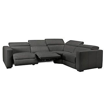 Verona Reclining Sectional - Charcoal