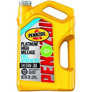 Pennzoil Platinum High Mileage Full Synthetic Motor Oil, SAE 5W-30, 5 qt.