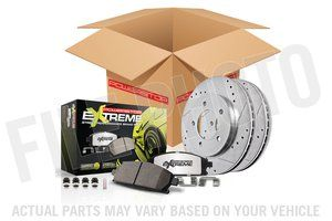 Power Stop Street Warrior 1-Click Brake Kit - Front