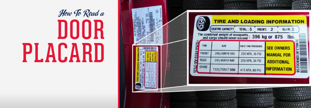 How to Read the Tire Pressure Sticker on Door Frame  Toyota Tundra Tpms Wiring Diagram on