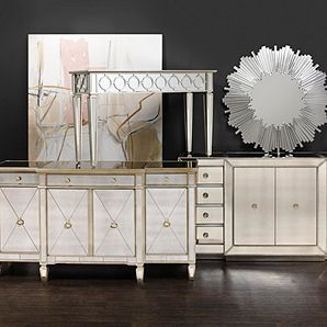 Mirrored Console Table Contemporary Amp Classy Z Gallerie