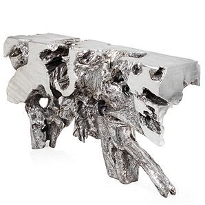 Silver Console Table Sequoia Collection Z Gallerie