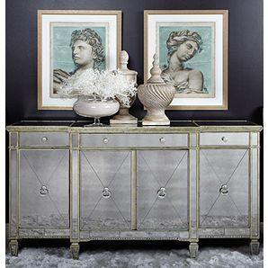 Mirrored Buffet Glamorous Borghese Buffet Z Gallerie