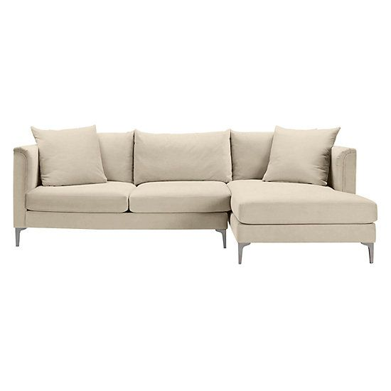Details Soft Roll Arm Chaise Sectional - 2PC