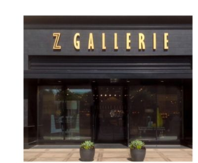 Z Gallerie stores feature an ever-changing collection of stylish designs.