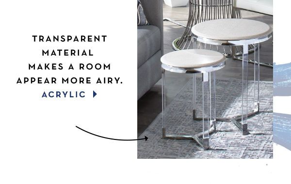 Transparent Acrylic Side Tables